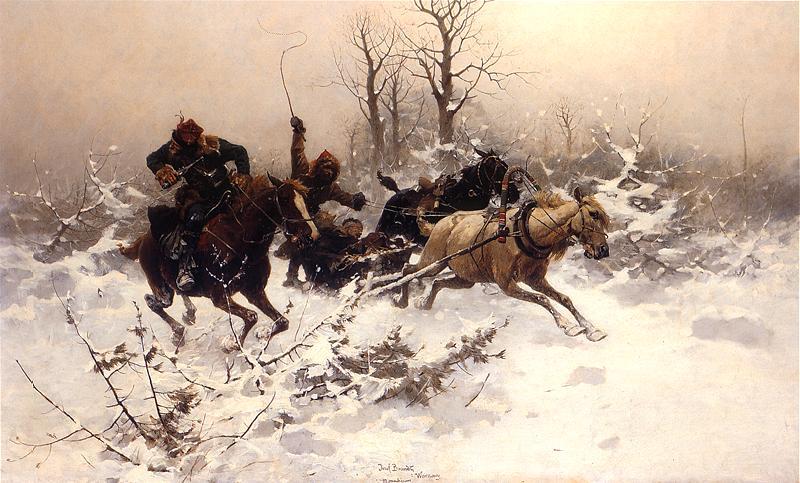 Józef Brandt - Ucieczka w zimie