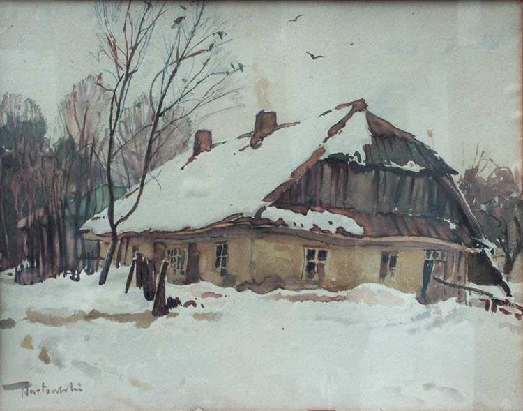 Tadeusz Nartowski - Pejzaż zimowy