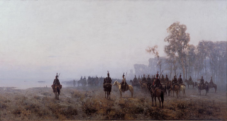 Władysław Malecki - Kawaleria powstańcza we mgle porannej