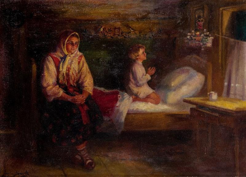 Sylweriusz Saski - W góralskiej izbie