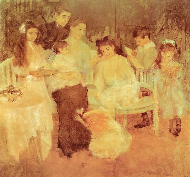 Teodor Axentowicz - Rodzina artysty