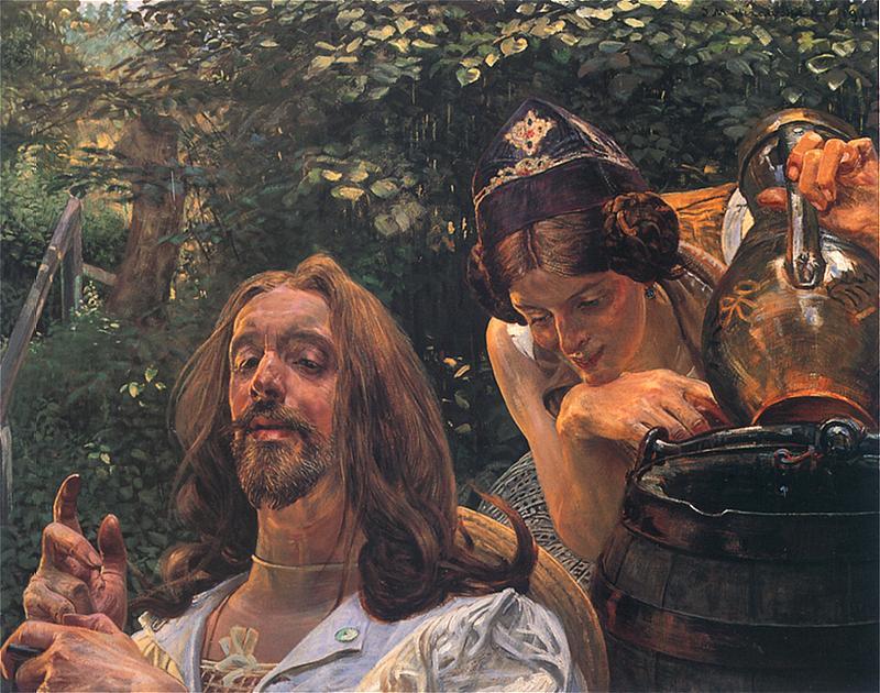 Jacek Malczewski - Chrystus i Samarytanka