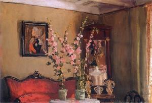 Ferdynand Ruszczyc - Wnętrze salonu