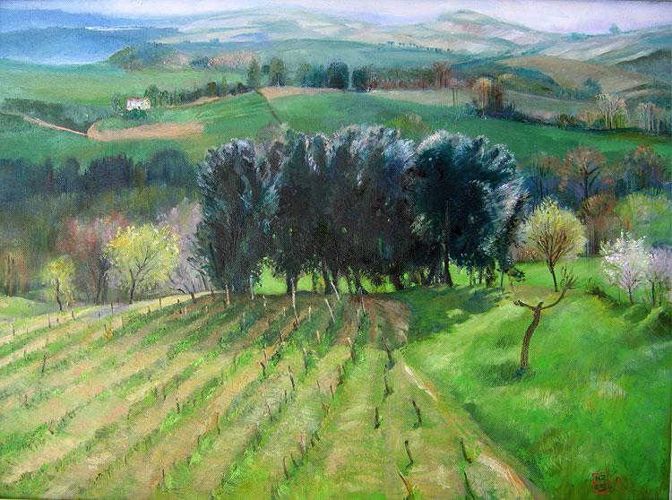 Helena Zadreyko - Dolina w Umbrii