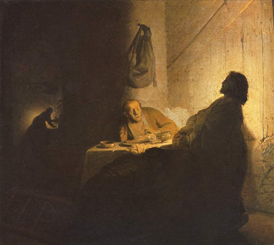 Rembrandt van Rijn - Chrystus w Emaus