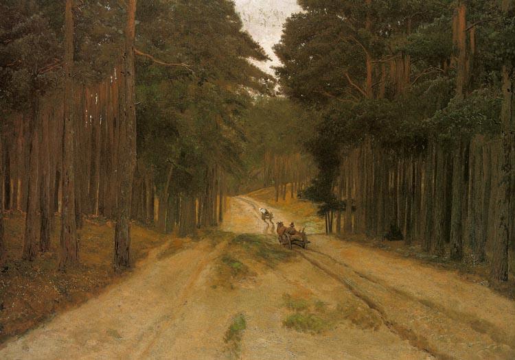 Józef Chełmoński - Droga w lesie