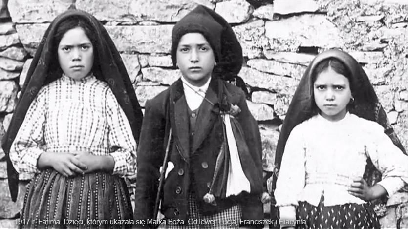 Łucja Dos Santos, Franciszek i Hiacynta Marto, dzieci, którym objawiła się Matka Boża w Fatimie w 1917 roku