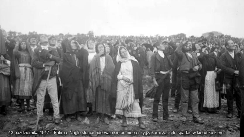 Cud słońca w dolinie Cova da Iria potwierdzający prawdziwość objawień w Fatimie, 1917 r.