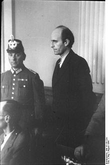 Adam von Trott zu Solz na chwilę przed ogłoszeniem wyroku śmierci