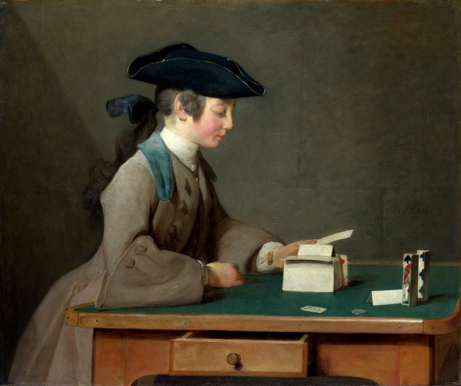 Jean-Simeon Chardin - Domek z kart