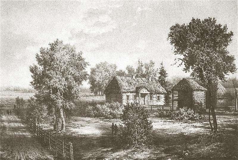 Zaosie k. Nowogródka - rodzinny dworek Adama Mickiewicza