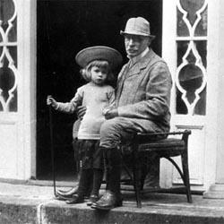 Józef Brandt z wnukiem
