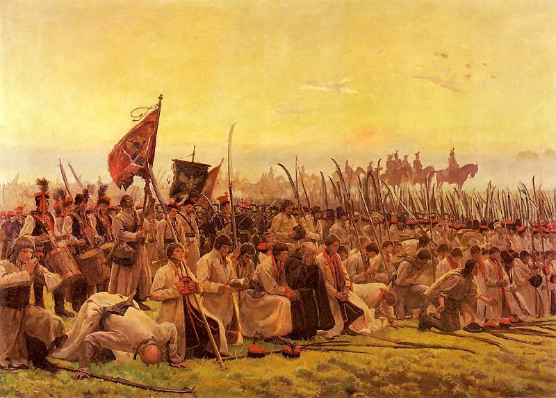 Józef Chełmoński - Modlitwa przed bitwą