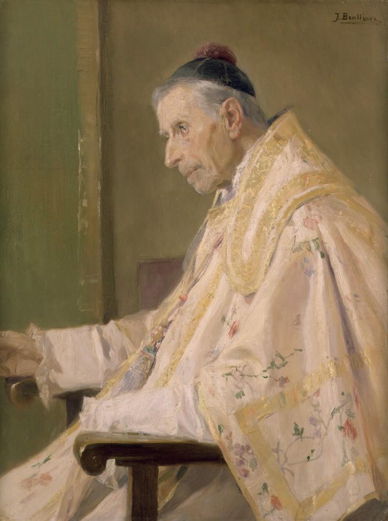 Jose Benlliure - Stary kapłan (Muzeum Sztuk Pięknych w Walencji)