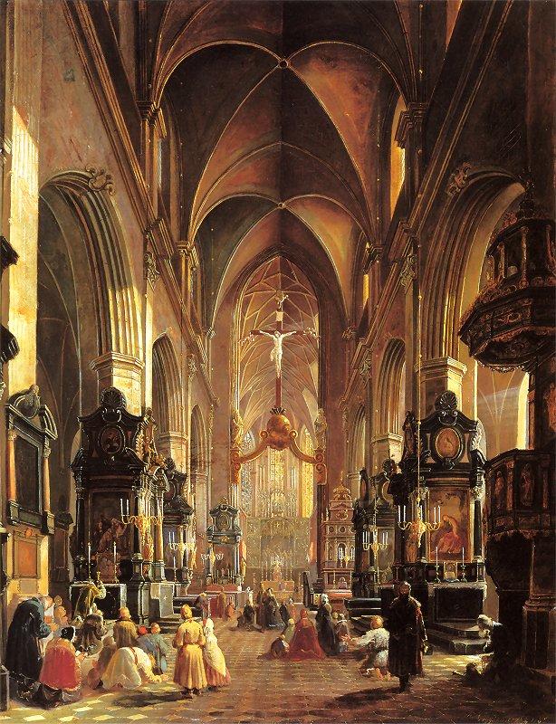 Aleksander Gryglewski - Wnętrze kościoła NMP w Krakowie