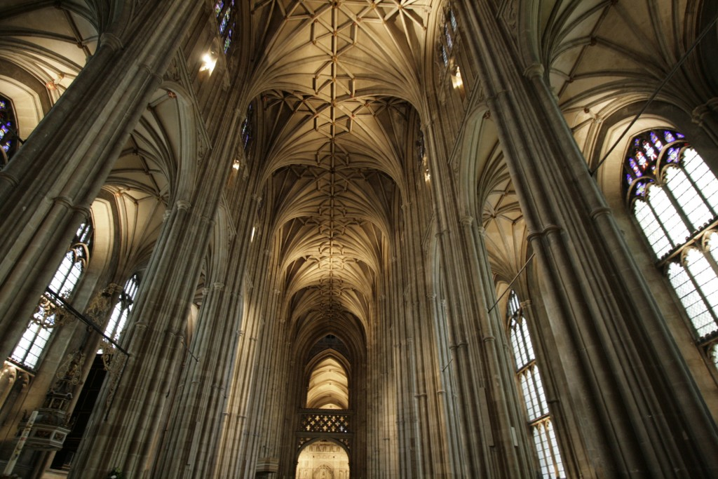 Katedra w Canterbury. Sklepienie nawy głównej