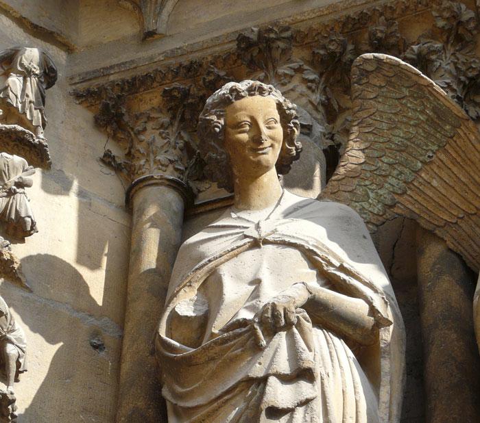 Uśmiechniety Anioł - katedra w Reims