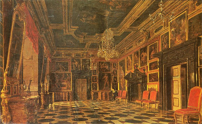 Aleksander Gryglewski - Sala karmazynowa w pałacu w Podhorcach