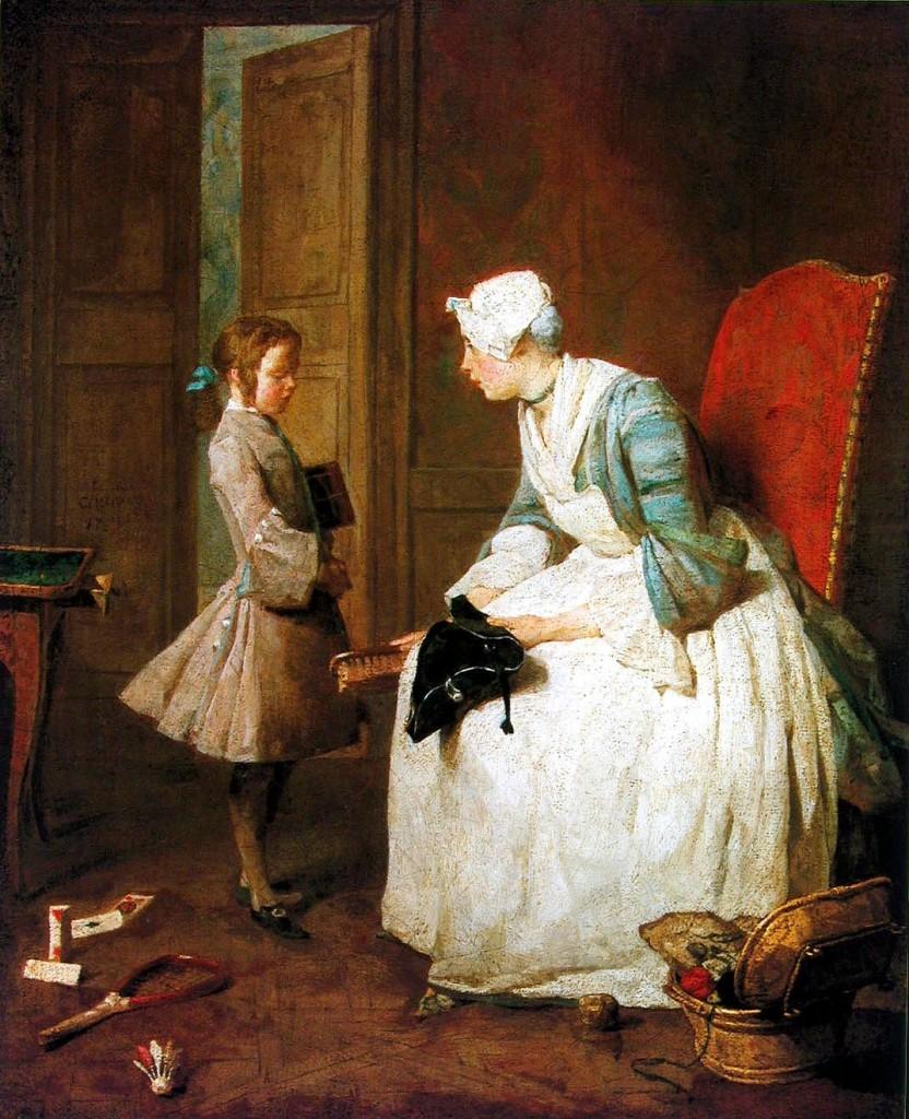 Jean- Baptiste Simeon Chardin - Scena z guwernantką
