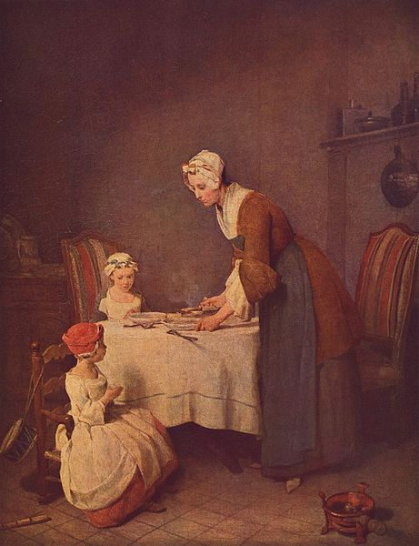 Jean-Baptiste Simeon Chardin - Modlitwa po posiłku