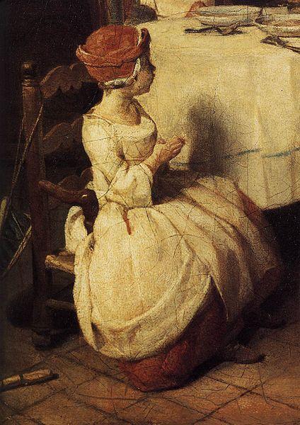 Jean- Simeon Chardin - Modlitwa przed posiłkiem (fragment)