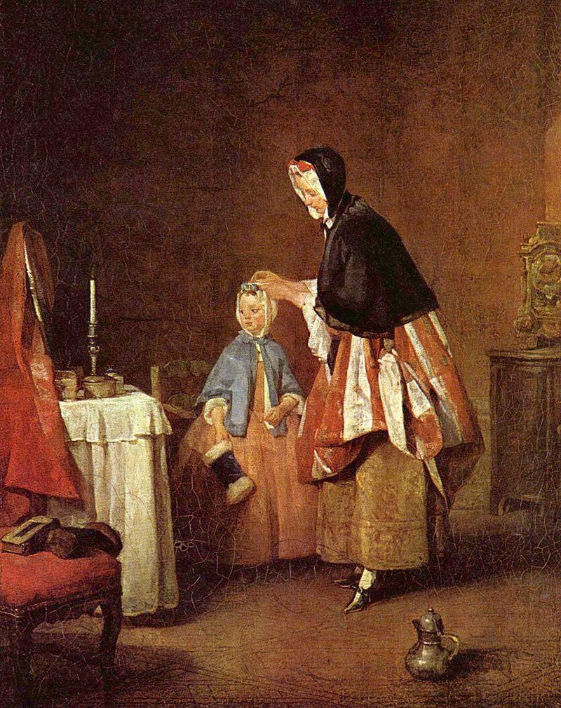 Jean-Baptiste Simeon Chardin - Poranna toaleta