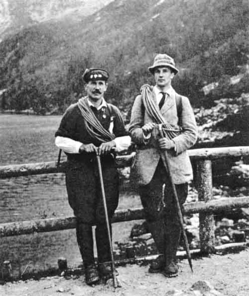 Mariusz Zaruski i Aleksander Zamięcki nad Morskim Okiem