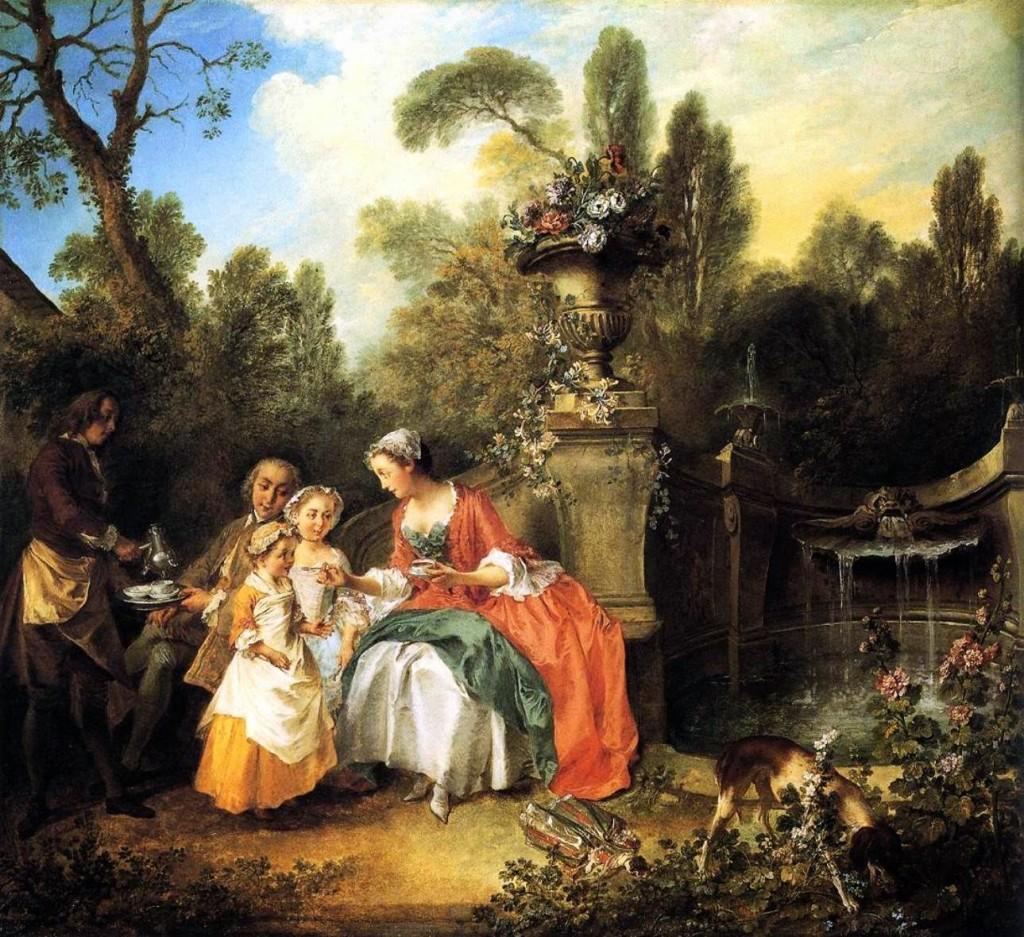 Nicolas Lancret - Rodzina w ogrodzie