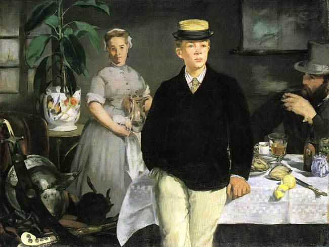 Eduard Manet - Śniadanie. Rodzina artysty