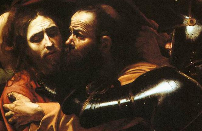 Caravaggio - Pocałunek Judasza