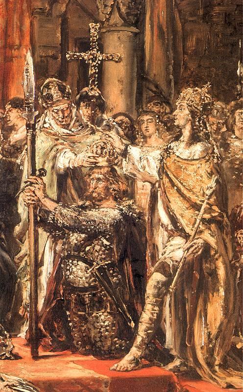 Jan Matejko - Koronacja pierwszego króla Polski (fragment)