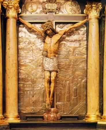 Krucyfiks w  Kaplicy Cudownego Obrazu Matki Boskiej na Jasnej Górze