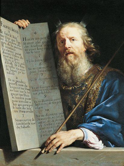 Philippe de Champaigne - Mojżesz i tablica Dekalogu
