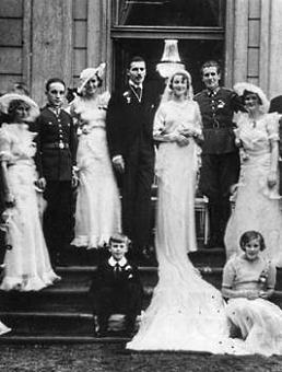 Slub Marii ze Zdziechowskich i Jana Sapiehy 1934 r.