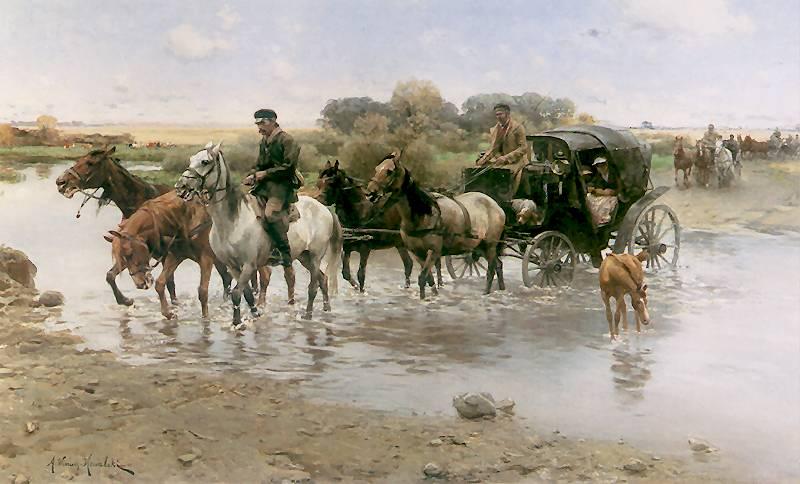 Alfred Wierusz-Kowalski - Przeprawa przez bród