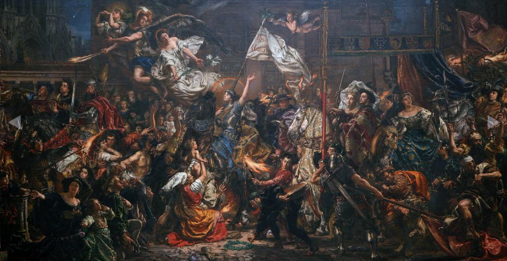 Jan Matejko - Joanna d`Arc prowadzi Karola VII na koronację