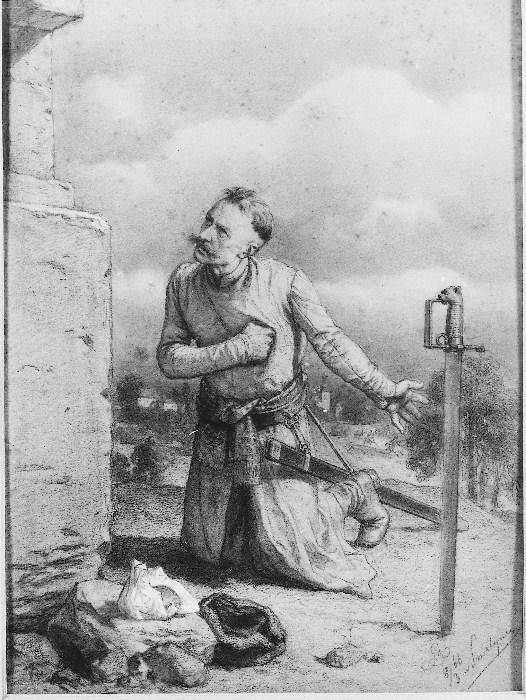 Artur Grottger - Szlachcic pod figurą