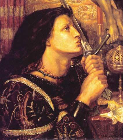 Dante Gabriel Rosetti - Joanna d`Arc