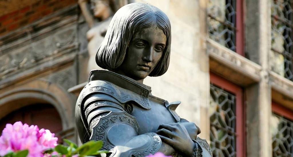 Statua Joanny d`Arc w Orleanie