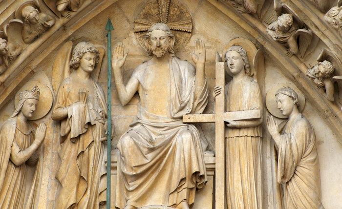 Chrystus Sędzia - portal katedry Notre-Dame w Paryżu