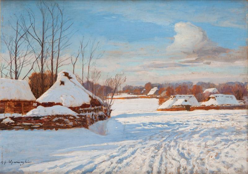 Michał Wiewiórski - Wieś w zimie
