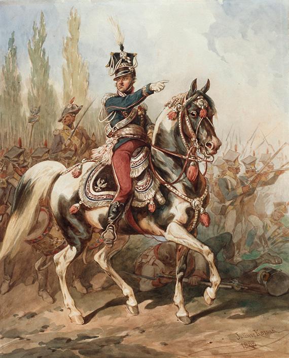 Juliusz Kossak - Generał Dąbrowski, dowódca Legionów Polskich