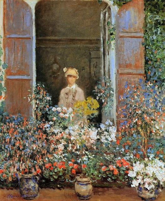 Claude Monet Camille Monet w oknie. Argeteuil 1873
