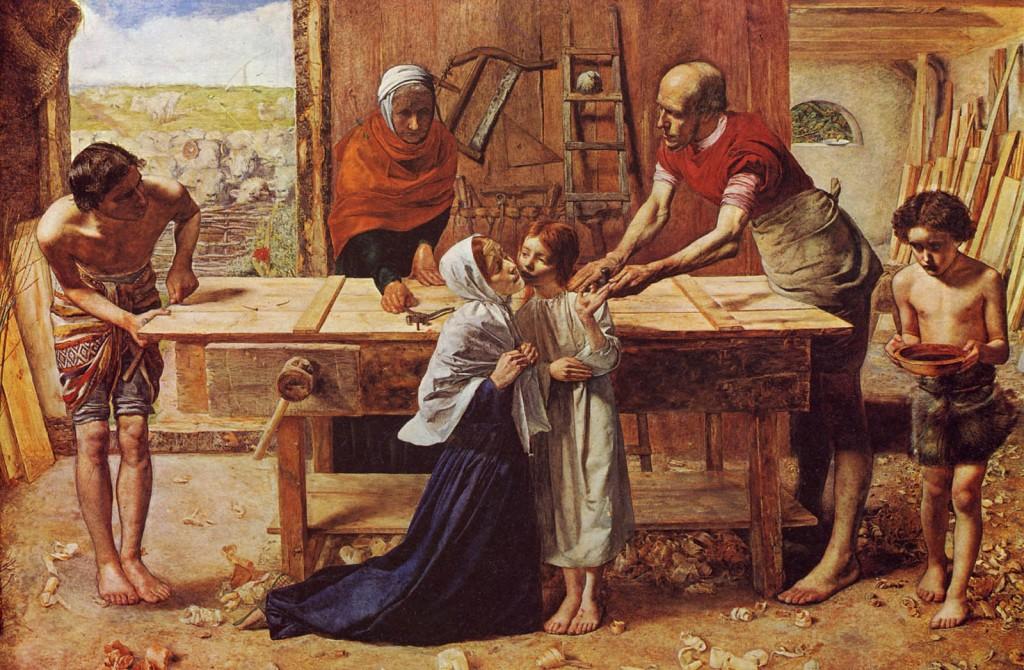 John Everret - Millais - Jezus w domu rodzinnym