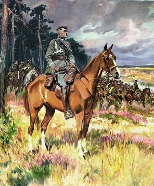 Wojciech Kossak - Józef Piłsudski