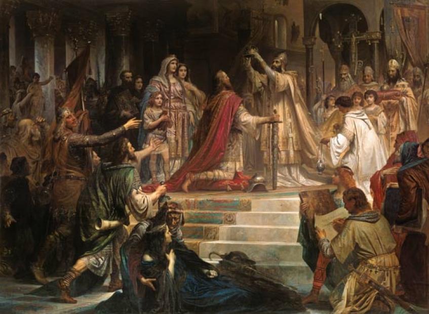 F. W. Kaubach - Koronacja Karola Wielkiego