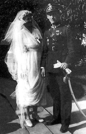 Maria z Szeptyckich i Stanisław Kostka Starowieyski, 1922 r.