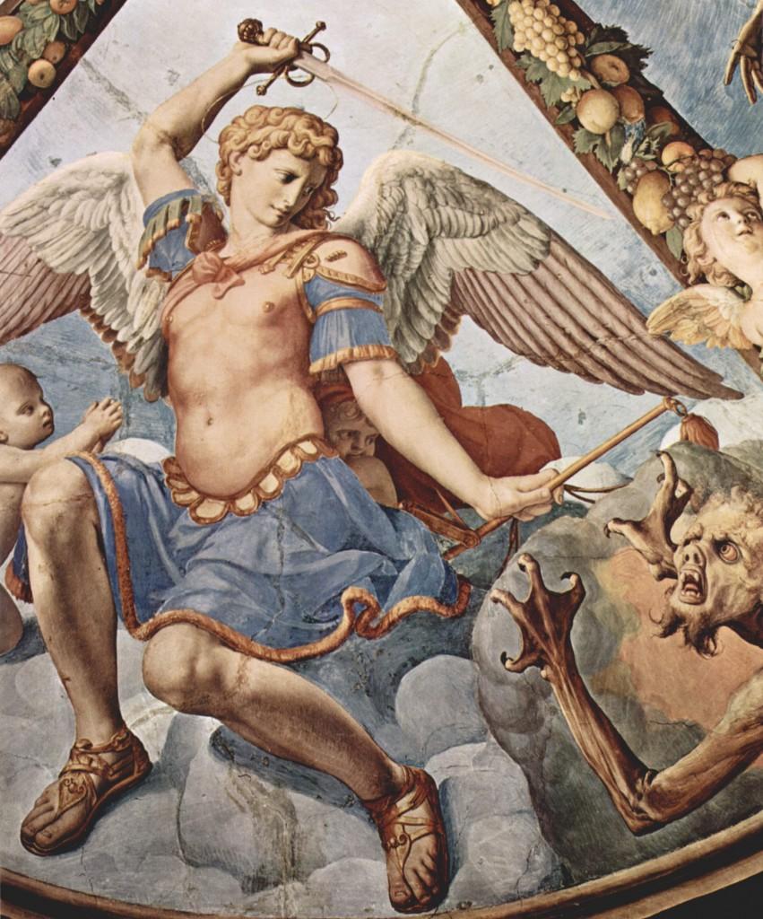 Św. Michał Archanioł - fresk Bronzina (za Wikipedia)