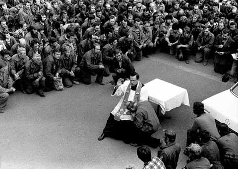 Spowiedź podczas strajku w stoczni, sierpień ` 1980