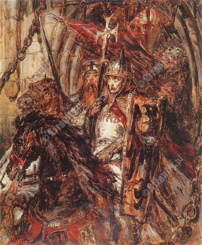 Jan Matejko - Wjazd Henryka Pobożnego do Legnicy